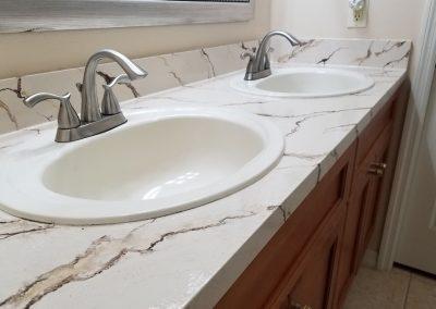 Refinish Countertops CrystalTop Finish Bathroom Counters 7